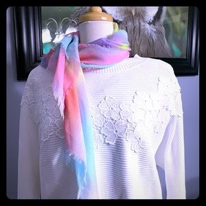New pastel colorful scarf 100% polyester- no tag